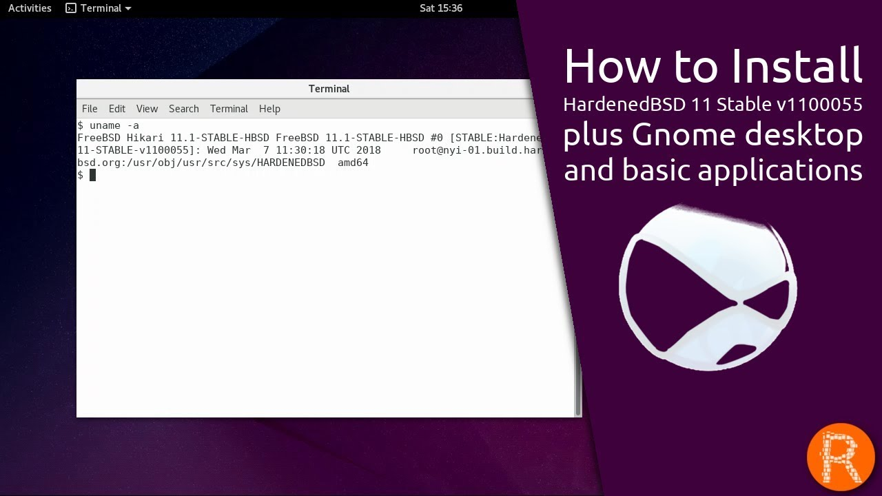 How to Install HardenedBSD 11 Stable v1100055 plus Gnome desktop and basic  applications