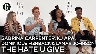 The Hate U Give Interview with KJ Apa, Sabrina Carpenter and More