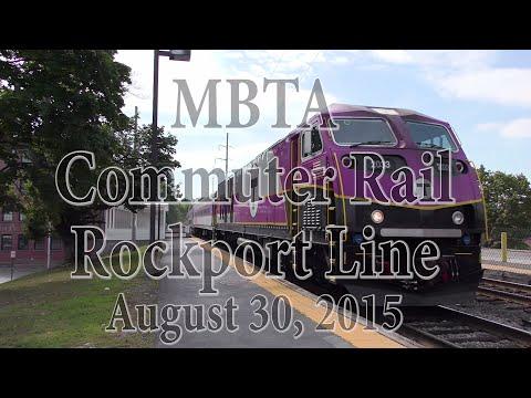 Activity on the MBTA Commuter Rail Rockport Line - August 30, 2015