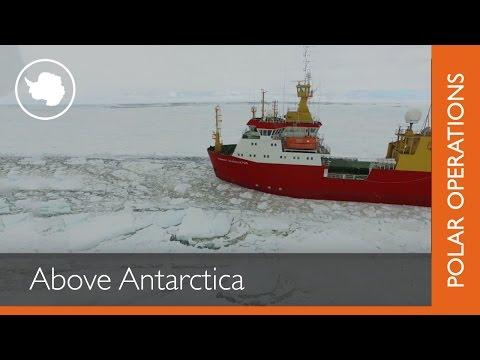 Above Antarctica