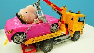 Видео для детей - Игрушки из мультфильмов и розовые машинки