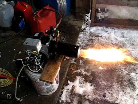 Beckett waste oil burner