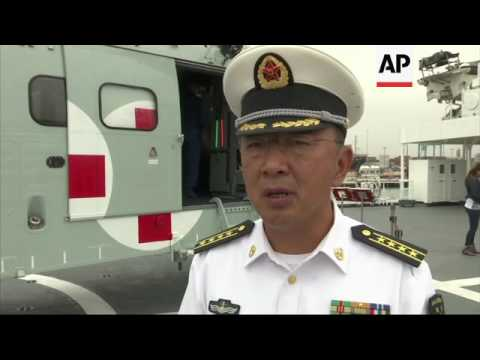 Chinese hospital ship docks in Lima