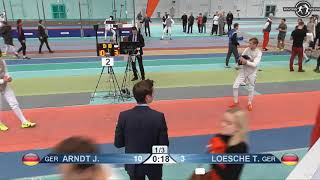 2018 1234 T32 04 M F Individual Halle GER European Cadet Circuit RED ARNDT GER vs LOESCHE GER