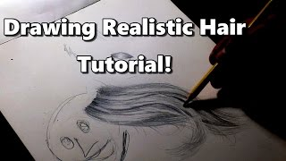 How To Draw Realistic Hair in 14 minutes! The EASY Way With A Pencil