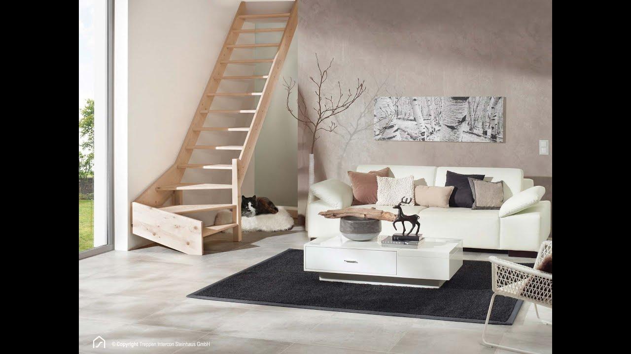 Berühmt Holztreppe einfach selbst montieren (ohne Geländer & Setzstufen LV85