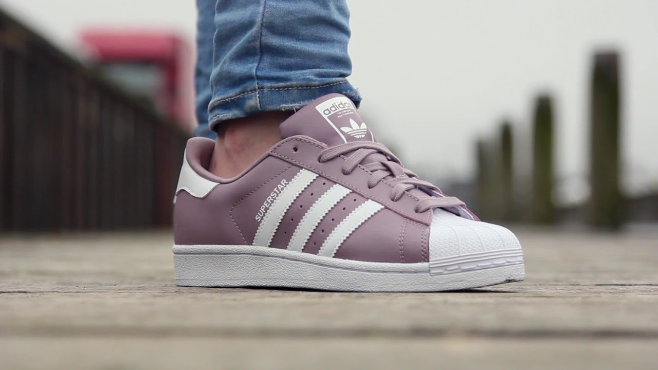adidas superstar purple suede