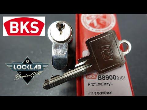 Взлом отмычками BKS B8900    (1671) BKS B8900 Picked & Gutted ()