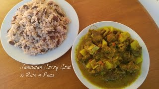 Jamaican Curry Goat With Rice N Peas
