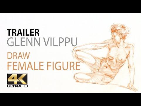 Drawing A Reclining Female Figure In Sanguine With Glenn Vilppu - Trailer (4K Ultra HD)