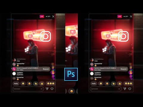 Instagram viral photo editing | Instagram editing | Instagram PNG logo glowing | Photoshop tutorial thumbnail