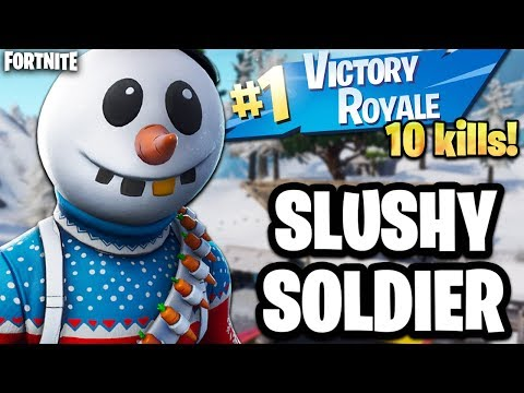 ⛄ NEW FORTNITE CHRISTMAS SKIN SLUSHY SOLDIER (Fortnite Christmas Skin Gameplay)