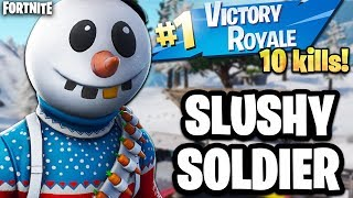 "⛄ NEW FORTNITE CHRISTMAS SKIN ""SLUSHY SOLDIER"" (Fortnite Christmas Skin Gameplay)"