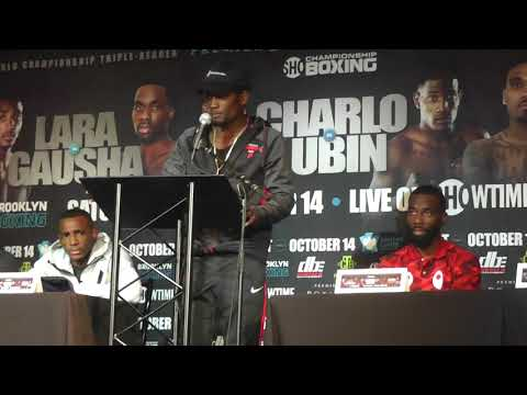 ((fireworks!!)) FINAL PRESSER CHARLO LUBIN FACEOFF - esnews boxing
