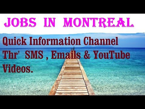 Jobs  in  MONTREAL    City for freshers & graduates. industries, companies.  CANADA