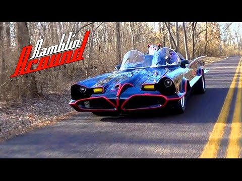 1966 Batmobile Test Drive  Replica Built from Original Barris Molds