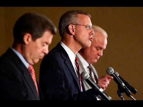 Opening statements in Kansas gubernatorial debate in Overland Park