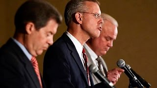 Opening statements in Kansas gubernatorial debate in Overland Park