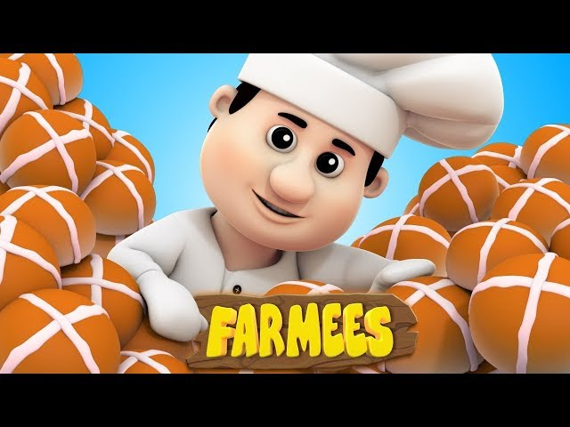 Hot Cross Buns | Nursery Rhymes | Kids Songs | Children Rhymes by Farmees