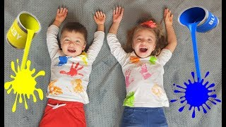 Kids learn colors with color T-SHIRT