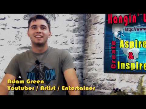 Adam Green (Youtube Creator/Musician/Artist) on the Hangin With Web Show from Necronomicon