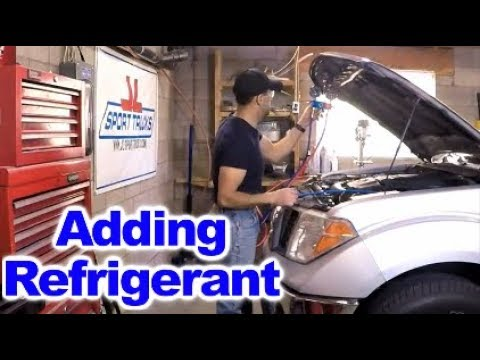 How to add Refrigerant to AC System on 2008 Nissan Frontier using Artic Freeze 134A Refrigerant