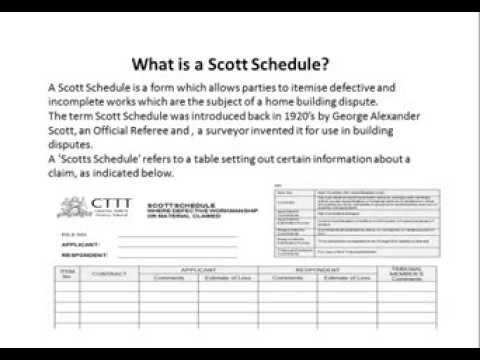 CTTT NCAT Building Expert Witness Report  Scott Schedule - YouTube - building schedules template