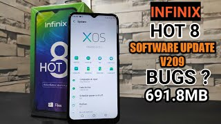 Infinix Hot 8 First Software Update V209 Review | Camera & Audio Improvement | Any Bugs ?