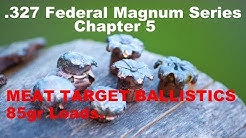 .327 Federal Magnum CHAPTER 5: MEAT TARGET BALLISTIC TESTING WITH 85gr LOADS