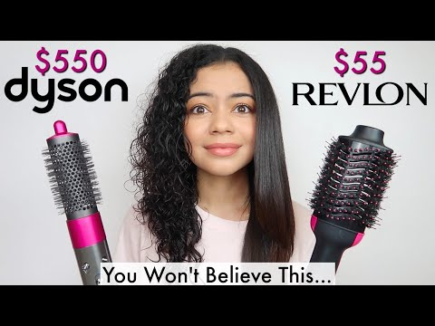 REVLON ONE STEP DRYER AND VOLUMIZER VS DYSON AIRWRAP ON CURLY HAIR - HONEST REVIEW