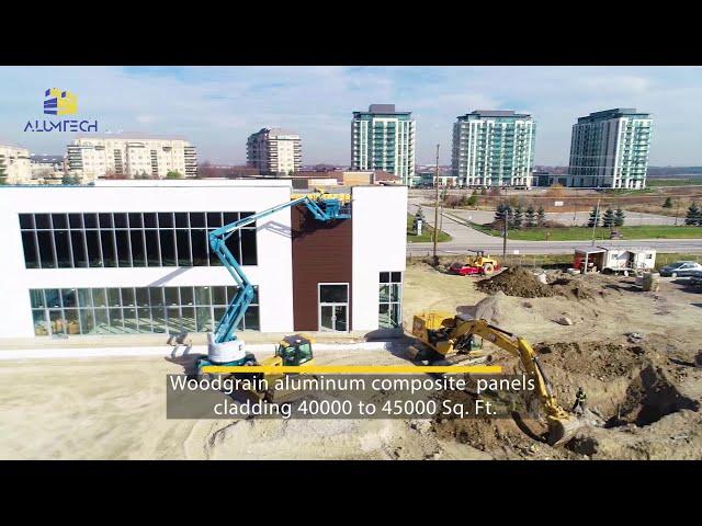 Aluminum composite panel installation, ACP/ACM panel, modern façade, metal cladding, aluminum siding