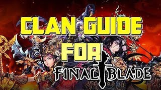 All You Need to Know About Clans in Final Blade