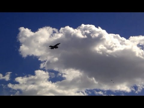 Fighter Jet over Bombardier Thunder Bay Ontario