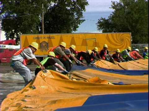 & Cirque du Soleil tent setup - YouTube