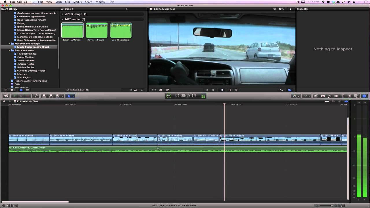 edit to the beat fcpx