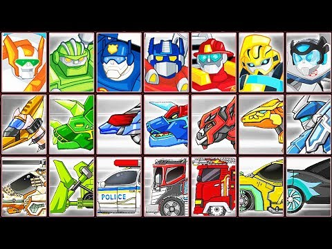 Transformers Rescue Bots: Dash + Hero Adventures + Dino Robot Corps | Eftsei Gaming
