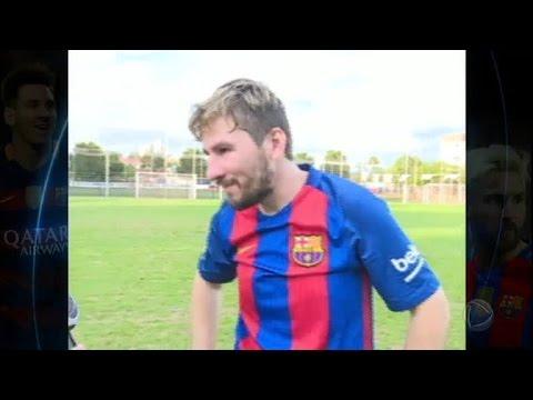 Messi do Tocantins faz sucesso entre fãs do craque do Barcelona