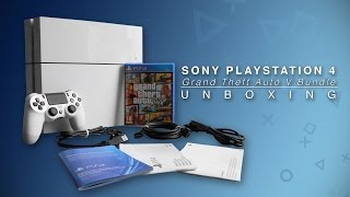 Playstation 4 Grand Theft Auto V Unboxing (Glacier White)