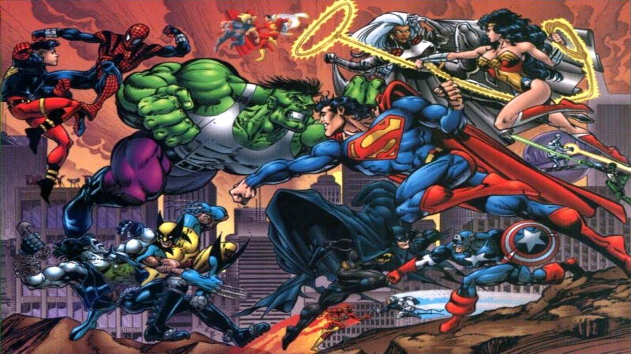 """Resultado de imagem para """"DC vs. Marvel: O Conflito do Século"""""""