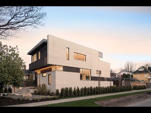 Elegant Home Design Unique House With A Punctuated White Brick