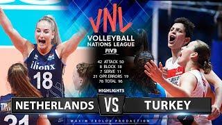 Netherlands vs. Turkey | Highlights | Women's VNL 2019