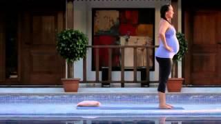 Йога для беременных 30 минут. На английском языке.