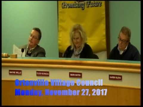 11 27 2017 Ortonville Village Council