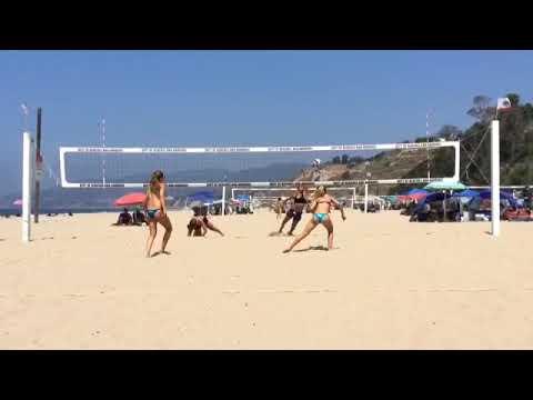 Eden McCoy light blue bikini bottom & Lauren Bays CBVA 16U 862017