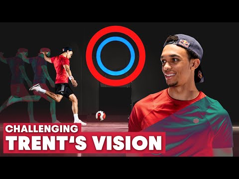 Challenging Trent Alexander-Arnold's Vision | Improving A Pro Footballer's Eyesight & Reactions