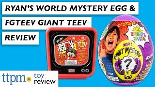 Ryan's World Series 3 Giant Mystery Egg Unboxing \u0026 FGTeeV Season 1 Giant TeeV from Bonkers Toys