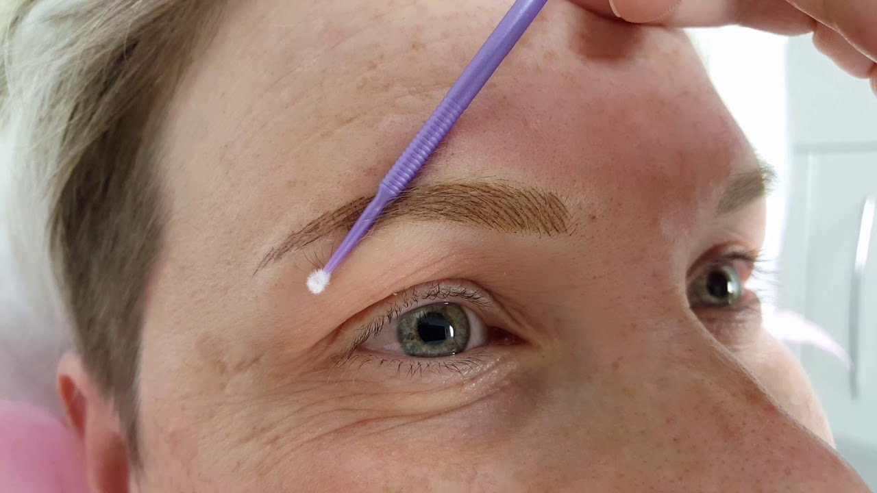 Blonde Eyebrows Natural Hairstrokes PMU by El Truchan @ Perfect Definition