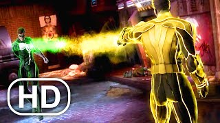 JUSTICE LEAGUE Green Lantern Vs Yellow Lantern Fight Scene 4K ULTRA HD - Injustice Cinematic