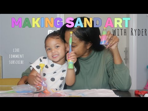 SAND ART ACTIVITIES WITH RYDER