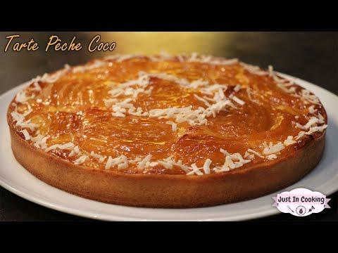 recette-de-tarte-pêche-noix-de-coco